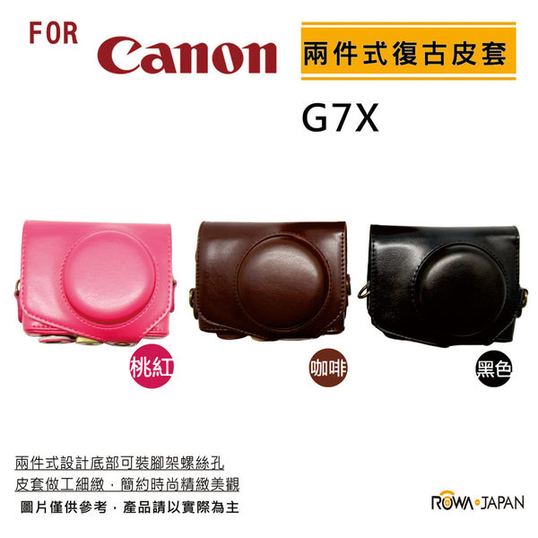 ROWA FOR Canon G7X 系列專用時尚復古皮套