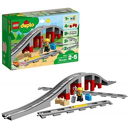 LEGO 樂高 DUPLO Train Bridge and Tracks 10872 Building Blocks (26 Piece)