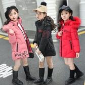 一件82折免運 童裝女童棉衣中長版加厚外套冬裝小女孩羽絨棉服兒童寶寶保暖棉襖