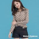 【Kinloch Anderson 金安德森女裝】蕾絲平塔克上衣(卡其)