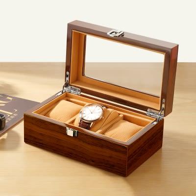 進口高端木質制天窗手錶盒單多個首飾品手?收納盒展示盒收藏箱子HL 雙11免運搶鮮購
