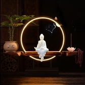 燈禪意倒流香爐創意風化木擺件中式家用室內供佛大號沉香檀香熏爐YYJ 蜜拉貝爾
