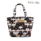 手提包 包包 防水包 雨朵小舖 M017-010 小可愛手提包-白黑白叮噹喵02628 funbaobao
