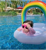 泳圈 INS 亮片 彩虹 網紅 救生圈 游泳圈
