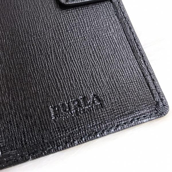 【雪曼國際精品】FURLA 芙拉金字LOGO防刮牛皮護照證件夾 黑色全新品