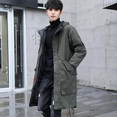 男士風衣秋冬季棉服中長款過膝寬鬆大衣韓版潮流學生休閒加厚外套 露露日記