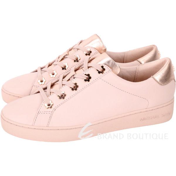 Michael Kors Irving 玫瑰金花釦繫帶休閒鞋(乾燥玫瑰色) 1820406-05