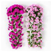 人造花 仿真紫羅蘭花藤壁掛吊蘭花塑料花花藤裝飾花客廳絹花花藤藤條壁掛 芭蕾朵朵