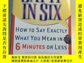 二手書博民逛書店Say罕見it in Six:How To Say Exactl