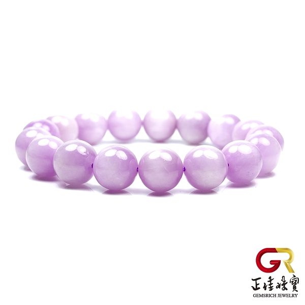 紫鋰輝 閃光薰衣草紫 紫鋰輝 12mm 圓珠手珠|日本彈力繩 正佳珠寶