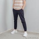 【GIORDANO】男裝純棉素色束口褲 - 66 標誌海軍藍