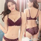 內衣 Ladoore 戀愛魔鏡 極致美胸UPUP成套內衣(紫紅)