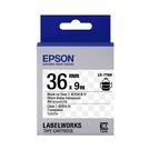 EPSON LK-7TBN C53S657404 透明系列透明底黑字標籤帶 寬度36mm