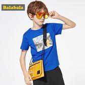 巴拉巴拉兒童短袖t恤男童中大童2019新款夏裝童裝半袖純棉體恤男