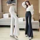 喇叭褲 設計感大喇叭褲2021新款夏季氣質高腰顯瘦百搭垂感休閒闊腿褲子女 晶彩