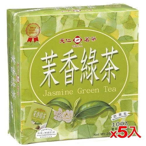 天仁袋茶防潮包-茉莉綠茶2g*500入【愛買】