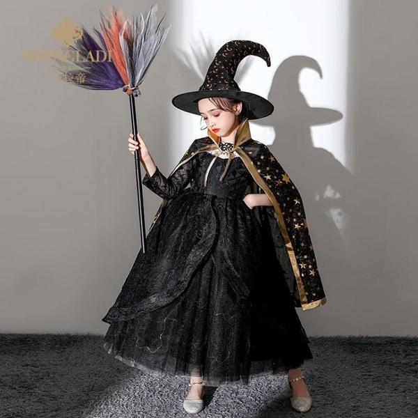 兒童萬圣節服裝cosplay幼兒園恐怖吸血鬼女巫小惡魔斗篷披快速出貨