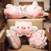 創意可愛3D印花豬豬抱枕公仔靠墊沙發辦公室汽車新年禮物男女