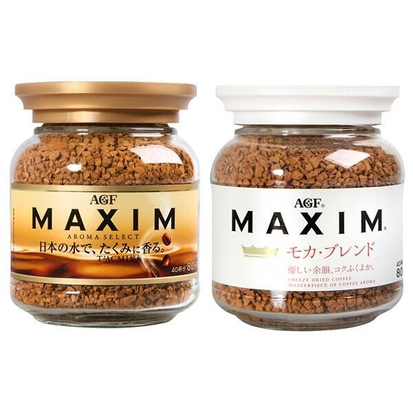 日本 AGF Maxim箴言金/香醇摩卡/濃郁深煎/華麗香醇(80g)『STYLISH MONITOR』即溶咖啡 D275195
