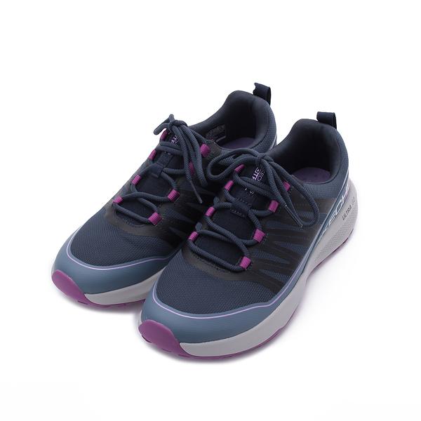 SKECHERS 越野系列 GO TRAIL JACKRABBIT 綁帶運動鞋 深藍 128067NVLV 女鞋