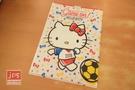 Hello Kitty 凱蒂貓 A4雙用文件夾 L夾 U夾 世足 足球 966337