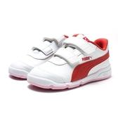 PUMA STEPFLEEX 2  白 紅 皮革 粉底 運動鞋 小童 (布魯克林) 2019/4月 19252305