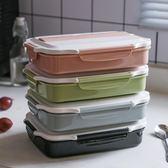 304不銹鋼飯盒分格便當盒小學生兒童長方形防燙食堂帶蓋餐盤 DN12349【大尺碼女王】