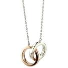 【奢華時尚】 TIFFANY 1837系列-Rubedo金混搭純銀雙戒環墜飾項鍊