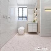 加厚衛生間浴室地板貼防水防滑瓷磚地面裝飾廚房地貼耐磨自粘貼紙 Korea時尚記