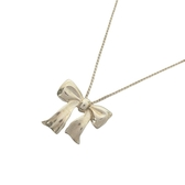 Tiffany & Co 蒂芬妮 蝴蝶結造型925純銀項鍊 【二手名牌BRAND OFF】