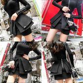 歐洲站立體多層a字型荷葉邊半身裙子女黑色高腰齊屁小超短裙   mandyc衣間