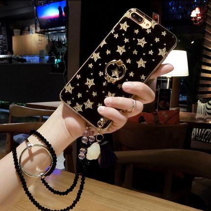 88柑仔店-OPPO R11 r9s plus 手機殼女款閃粉  防摔套支架掛繩日韓國潮牌