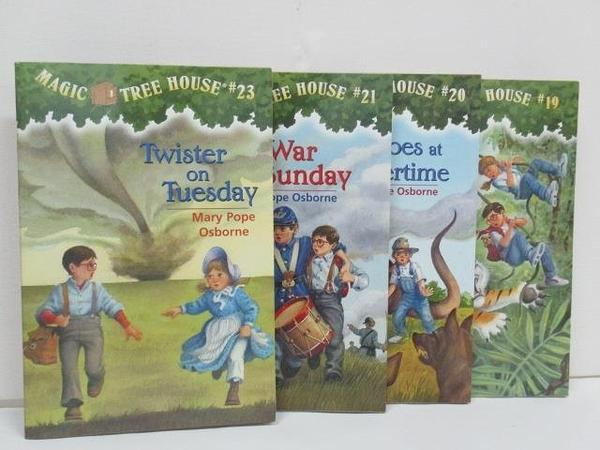 【書寶二手書T2/原文小說_AQ4】Magic tree House-Twister on Tuesday_Civil War on Sundy等_4本合售
