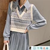 針織馬甲女背心外穿韓版復古短款百搭v領毛衣秋冬季【千尋之旅】