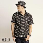 【BTIS】滿版襯衫 男款 / 黑色