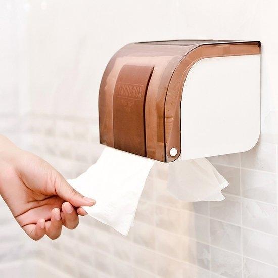 黏貼式防水紙巾盒 捲紙 面紙 客廳 廚房 浴室 餐巾 衛生紙 桌面 美觀【G073】慢思行