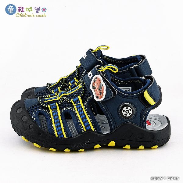 童鞋城堡-Tomica多美小汽車 護趾運動涼鞋TM3612 藍