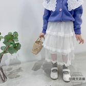 女童半身裙公主裙兒童蛋糕裙長裙短裙子【時尚大衣櫥】