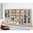 【森可家居】法克橡木10.5尺書櫃組 8SB236-1 書櫥 木紋質感 收納 無印北歐風 MIT台灣製造