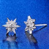 耳環 925純銀鑲鑽-閃耀百搭生日聖誕節禮物女飾品73hk55[時尚巴黎]