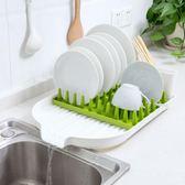 水槽塑料碗碟架餐具瀝水架 廚房用品水池碗筷收納架置物架igo     蜜拉貝爾