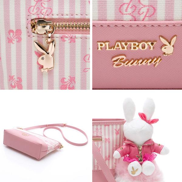 PLAYBOY- 斜背包 龐克兔系列-粉色