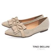 Tino Bellini恬靜優雅流蘇平底娃娃鞋_ 銀杏 C79409 網路限定款