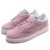 Reebok 休閒鞋 Club C 85 粉紅 米白 復古奶油底 網球鞋 麂皮鞋面 女鞋 運動鞋【PUMP306】 CN4049