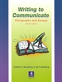 二手書博民逛書店 《Writing to Communicate: Paragraphs and Essays》 R2Y ISBN:013027254X│Prentice Hall