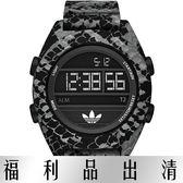 【台南 時代鐘錶 Adidas】愛迪達 ADH3046 軍武迷彩風蛇紋潮流電子錶 黑 50mm 公司貨 開發票有保障