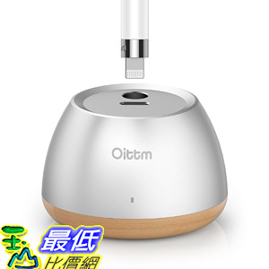 [106美國直購] 充電座 Apple Pencil Stand Oittm Desktop Apple Pencil Charging Stand (Aluminum Wood)