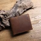 【Solomon 原創設計皮件】美式咖啡 復古瘋馬皮革 多層隔短夾