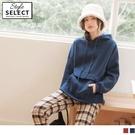 《KG1011-》內刷毛造型口袋連帽抽繩寬鬆長袖上衣 OB嚴選