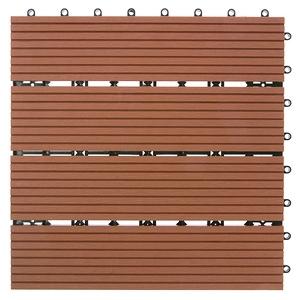 特力屋 塑木地板 30x30cm 紅木色 單售